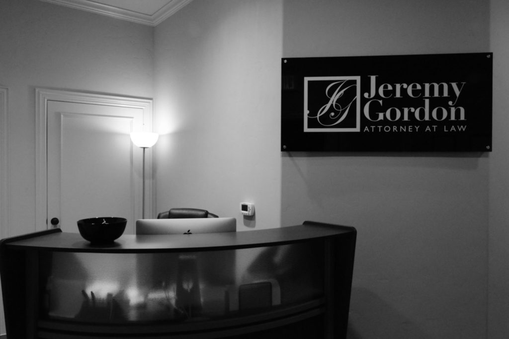 Law Office of Jeremy Gordon Interior Signage