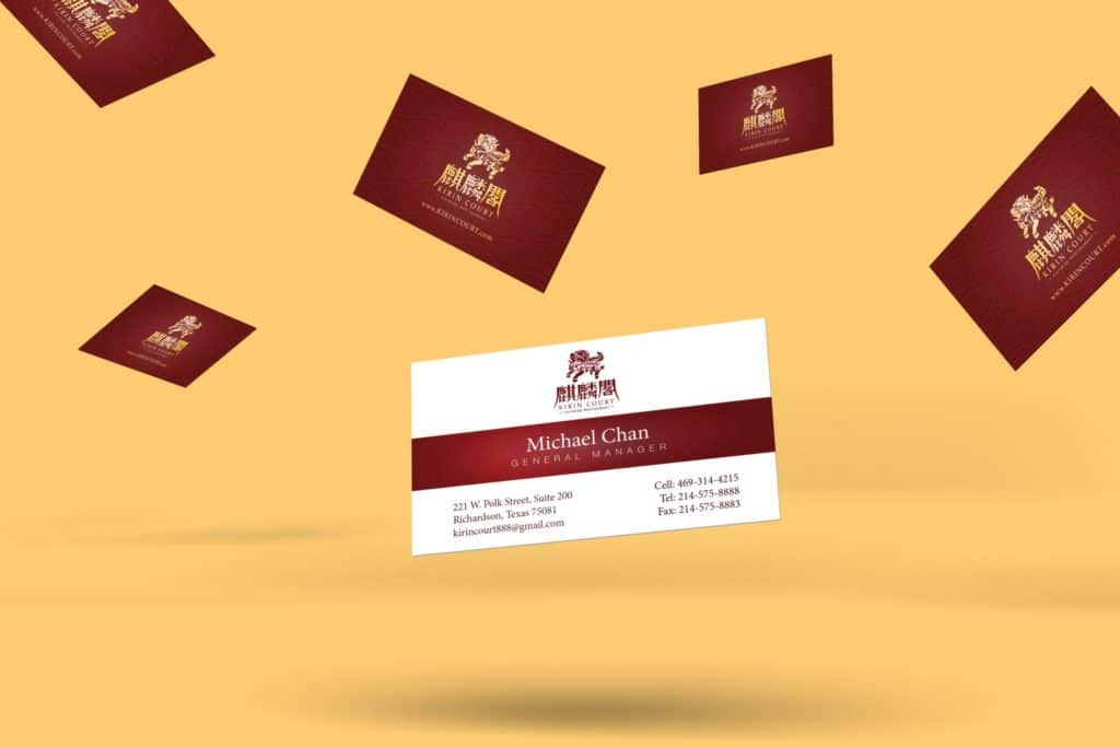 Kirin Court Business Card