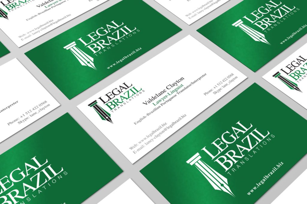Legal Brazil Business Card