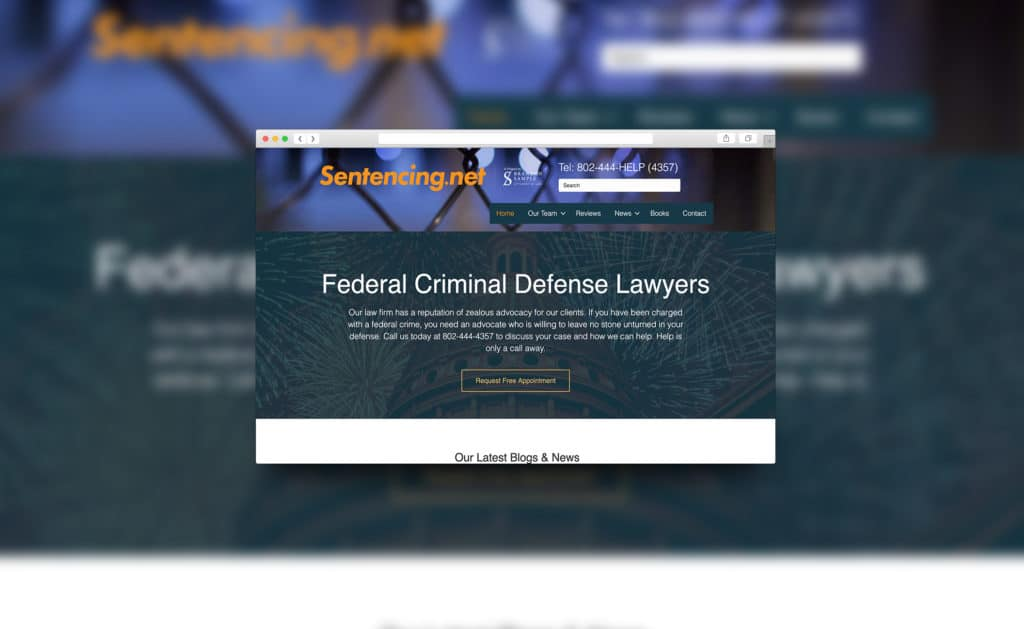 Website design for sentencing.net