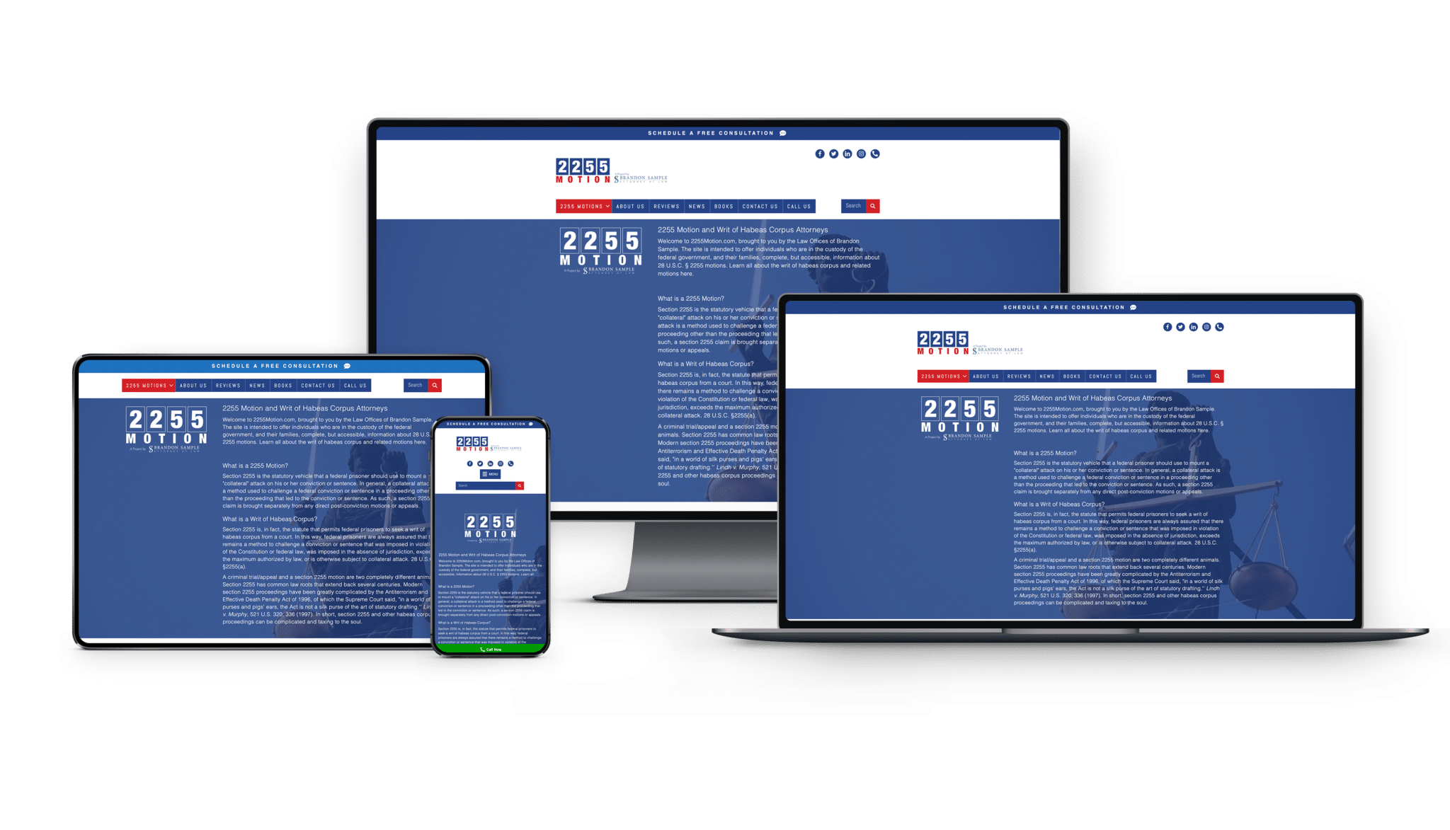 This lawyer web design is what you will get for responsive design.