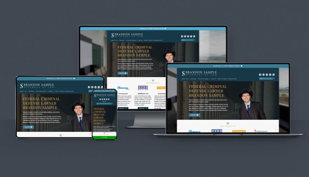 Responsive law firm web design that works on different types of browser and devices.