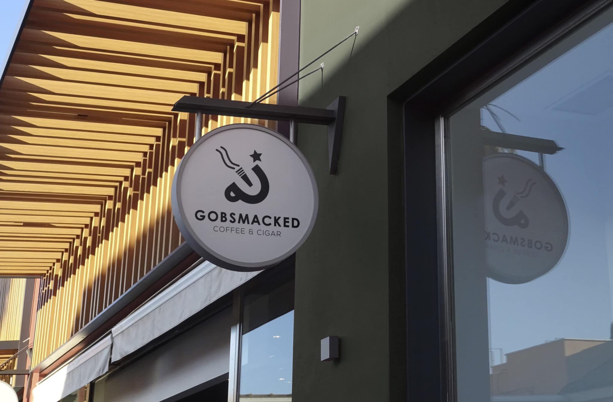 Gobsmacked Coffee & Cigar Exterior Signage
