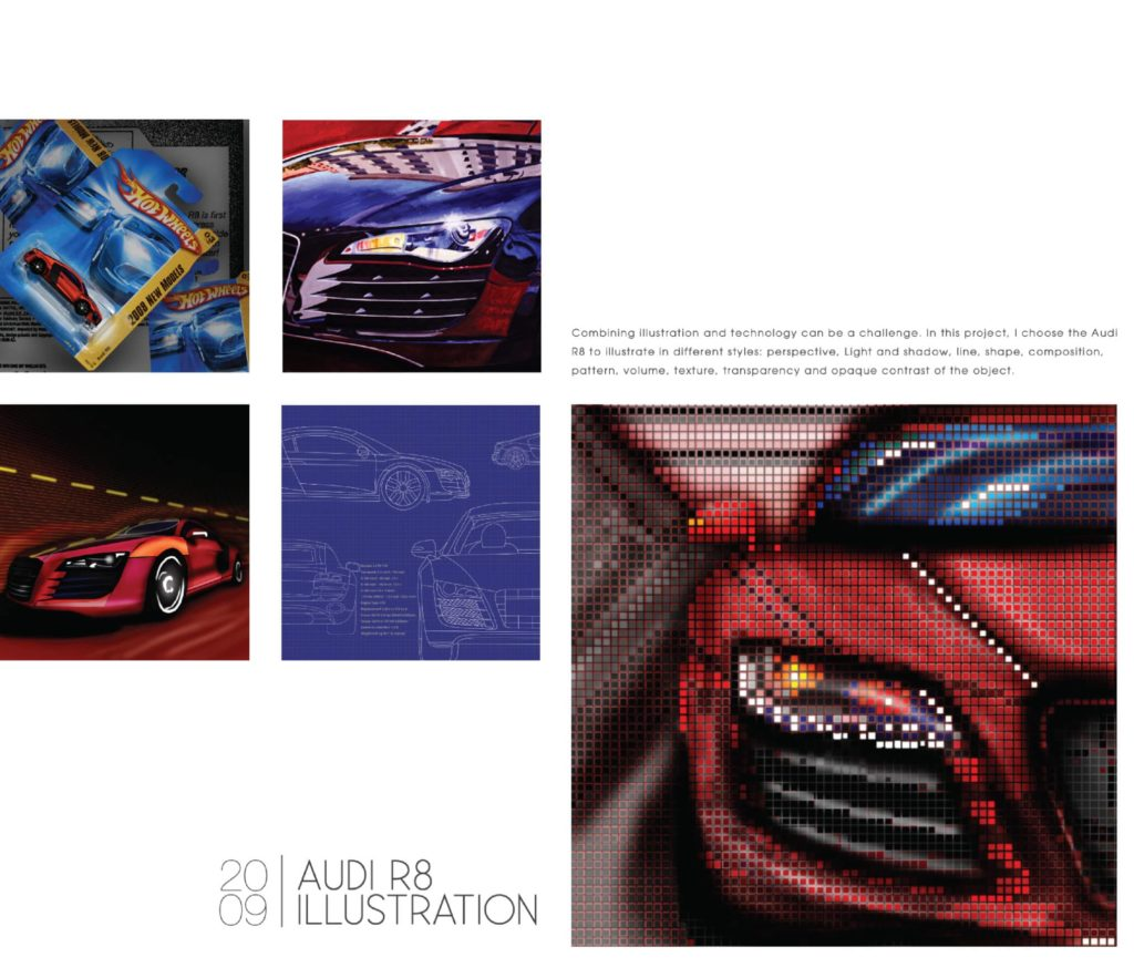 Audi R8 Illustrations