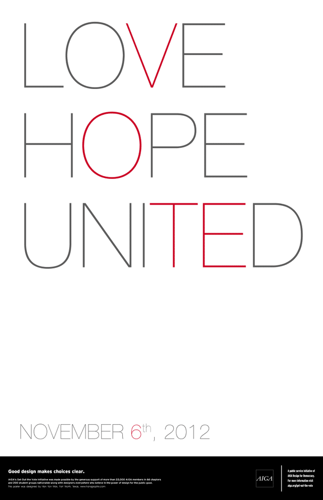 Love Hope United AIGA Poster Design