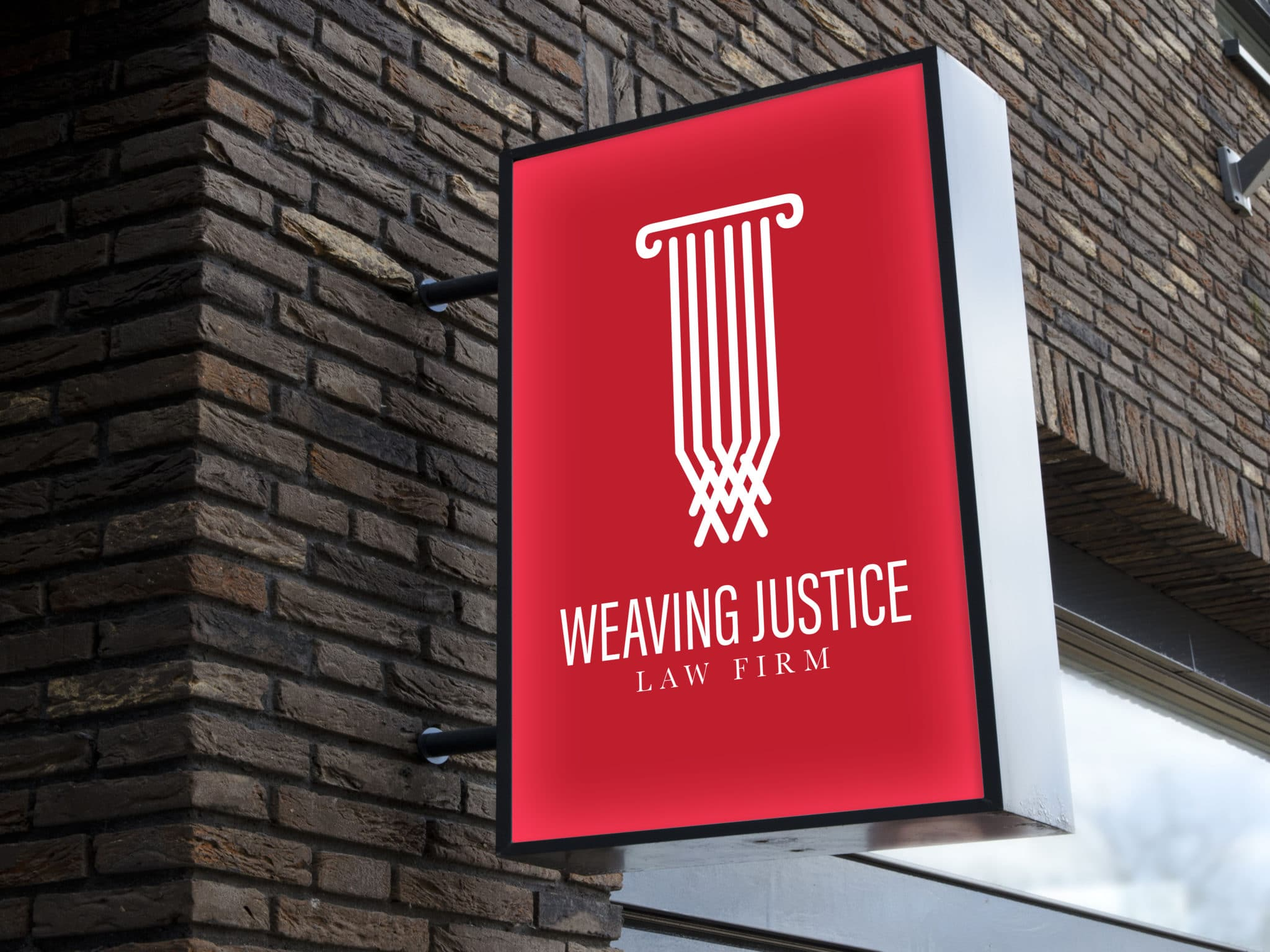 Signage design for Weaving Justice Law Firm